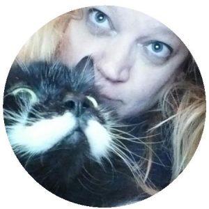 Dawn with her cat, Sammy