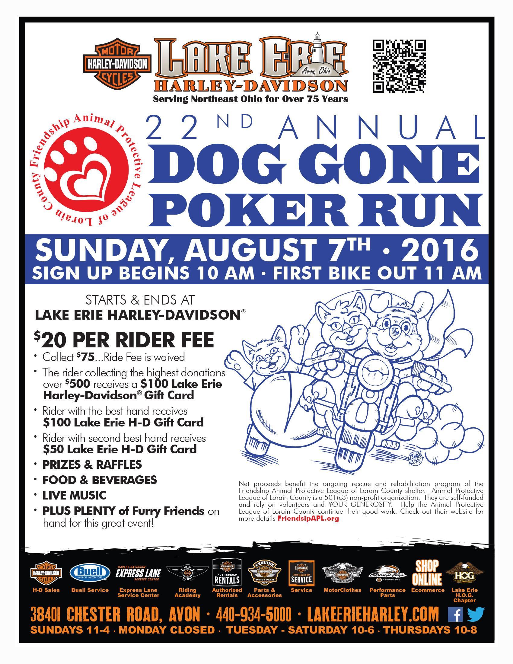 Dog Gone Poker Run Poster